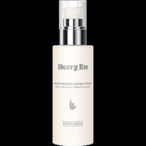 Viser en 125 ml moisturizer fra Berry.En med dispenser, der giver fugt til huden og fjerner urenheder.
