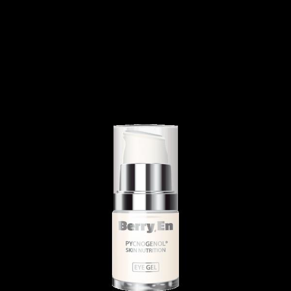 Viser en 15 ml eye gel fra Berry.En, der modvirker sorte rander under øjnene. Uden parfume, alkohol og olie.